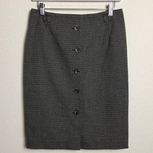 H&M Houndstooth Pencil Skirt